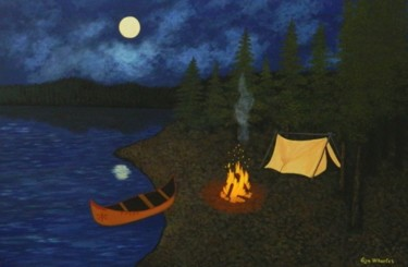 Path of The Spirits - nightscape camp painting