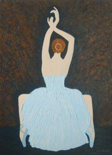 Before the Show - abstract ballerina dancer