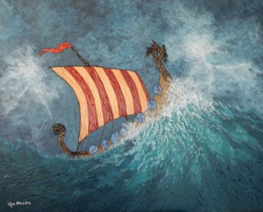 Dragon´s Vengance - viking ship storm seascape