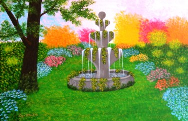 Make A Wish - large wild garden abstract landscape