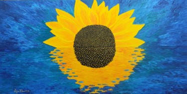 Morning Embrace - abstract sunflower painting
