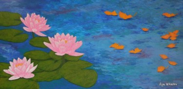 Last Song of Summer - large lotus flower painting
