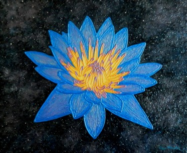 Lotus Galaxy - abstract lotus flower painting