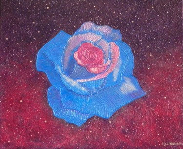 Forever Loyal - abstract spiritual blue rose