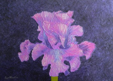 Classic Wine - abstract iris flower