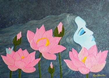 Magic Dreams - surreal lotus flower painting