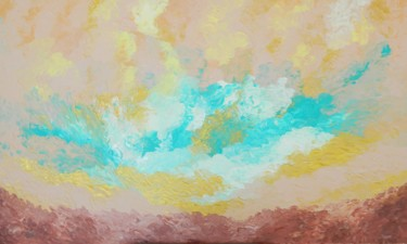 Fulfillment - peaceful colorful sky painting