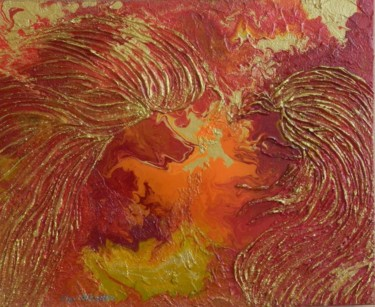 Celestial Wings - abstract aerial painting
