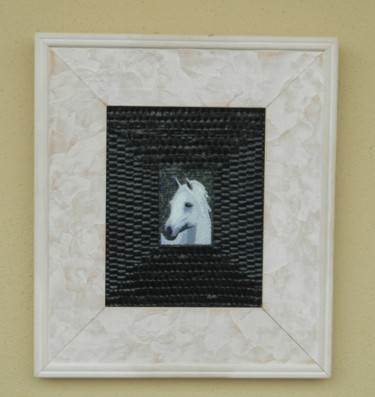 Duke - miniature mixed media horse art