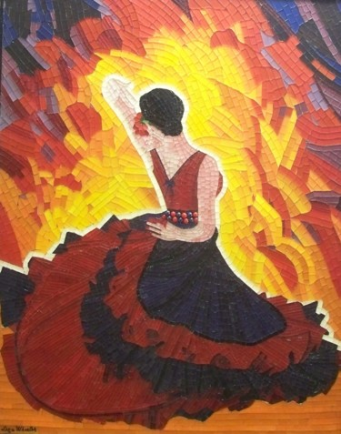 Passion Flamenco - mixed media flamenco dance art