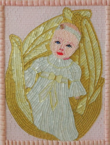 Little Princess - guardian angel mixed media