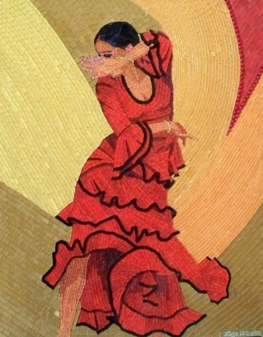 Flamenco Wind - mixed media flamenco dance art