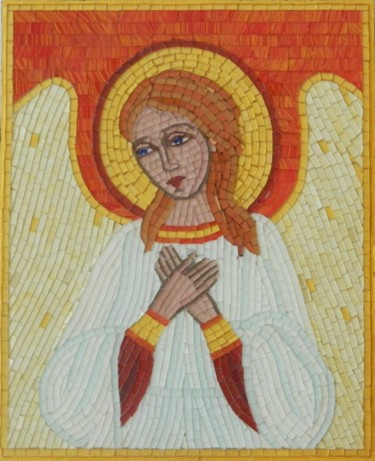 Guardian Angel - mosaic and micro mosaic art