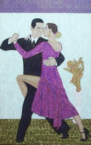 Amistad(Friendship) - mixed media mosaic tango