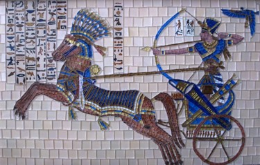 Rramses II - Kadesh - mixed media battle scene