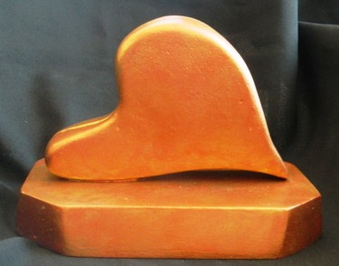 Waiting - handmade, carved abstract sculpture