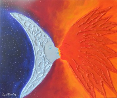 Impossible Romance - abstract sun and moon art