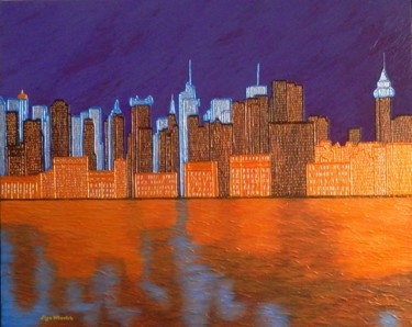Midnight on The Hudson -  New York cityscape